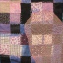 embroidery and applique on vintage patchwork