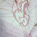embroidery on white button-down